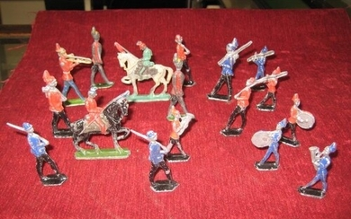 Collection of 16 Cold Painted Lead Die-cast Soldiers - Late ...