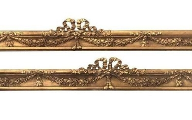 Pair of 19th century carved pelmets