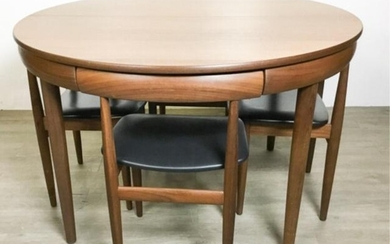 Danish Modern Dining Table and 4 Chairs