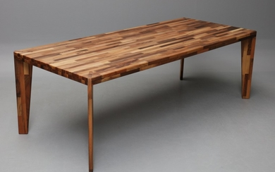 Danish cabinetmaker. Plank table in solid Italian walnut