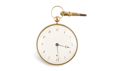 Description A FRENCH GOLD OPEN FACE POCKET WATCH, c.1800,...