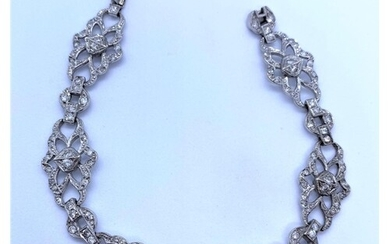 Diamond Encrusted 18K White Gold Bracelet, weight 17.3g and ...