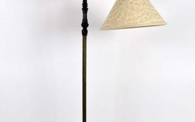 EMPIRE STYLE BRONZE & PATINATED METAL FLOOR LAMP