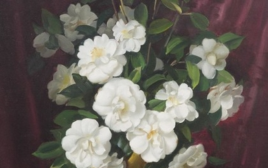ERNEST BUCKMASTER (1897-1968) Camelias oil on canvas
