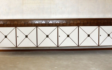 Eclectic hanging sideboard, 1970s