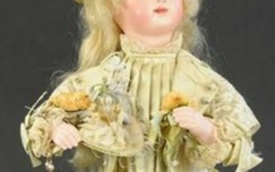 FRENCH AUTOMATON OF GIRL WITH FAN