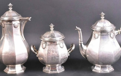 German 800 Silver Three Piece Coffee Set