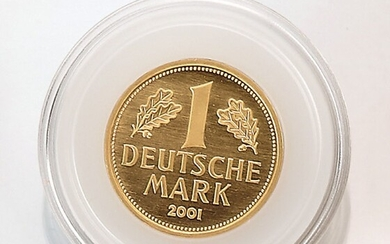 Gold coin, 1 Mark, Germany, 2001 ,...