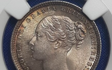 Great Britain - Shilling 1872 Victoria in NGC Slab - Silver