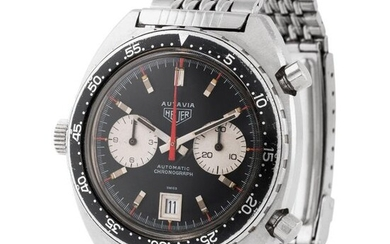 "Heuer. Very Nice and Cool Autavia ""viceroy"" in Steel, Reference 1163, With Box"