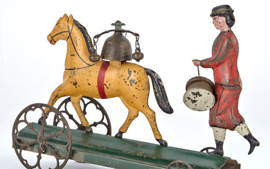 Horse and Drummer Bell Toy