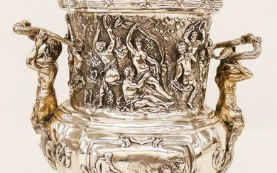 Impressive George Roth Hanau Silver Mythological Wine