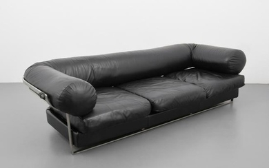 "Jacques Charpentier ""Apollo"" Leather Sofa"