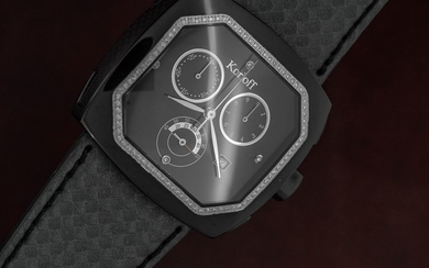 Korloff - Diamonds for 0.39 Carats Chronograph Limited Edition Mother of Pearl Transparence Swiss Made - TKCB/2 - Unisex - Brand New