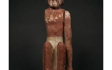 LARGE EGYPTIAN WOODEN FIGURINE- 350mm