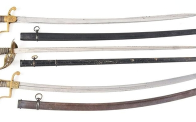 LOT OF 3: IMPERIAL GERMAN PRUSSIAN SWORDS.