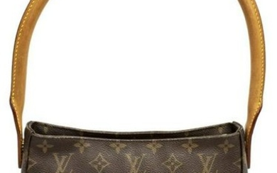 LOUIS VUITTON 'LOOPING MM' MONOGRAM CANVAS HANDBAG