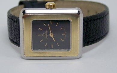 Ladies S/Steel & 14k OMEGA De VILLE Winding Watch 1970s
