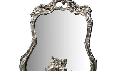 Large Sterling Art Nouveau Mirror