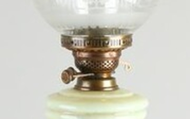 Large antique Empire style paraffin lamp with