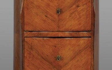Louis XIV cabinet with two-drawer fins and two drawers, lastronato in bois de rose Genoa I half sec.XVIIIcm