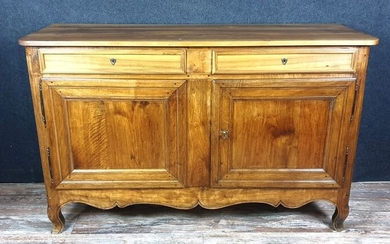 Louis XV period rustic sideboard in solid walnut - Walnut - 1800