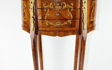 Louis XVI style oval side table chevet
