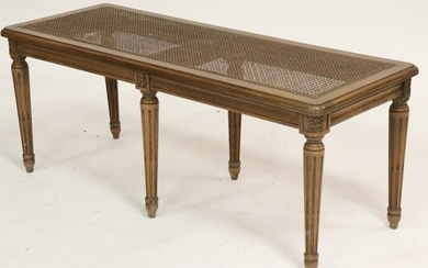 Louis XVI Style Beechwood Caned Banquette