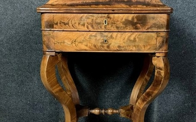 Magnificent powder with writing function - Charles X - Mahogany - Early 19th century