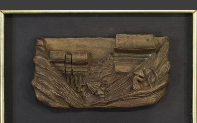 Mid-Century Modern Pottery Sculpture Wall Hanging