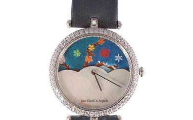 One of a Kind Lady Arpels Centenary Watch with Diamonds