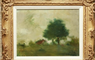 Oppenheim Impressionist Landscape Oil on Canvas