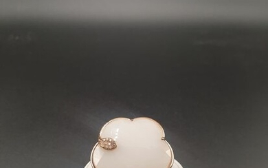 Pasquale Bruni - 18 kt. Pink gold - Ring - 26.53 ct White agate - Diamonds