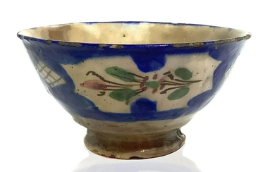 Persian bowl decorated on the outside with floral