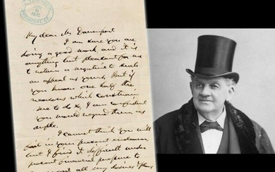 "Phineas T. Barnum Remarkable ALS to Black Preacher: ""my"