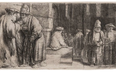 Rembrandt van Rijn (1606-1669) Jews in the synagogue