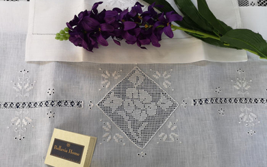 Rich towels 1 + 1 Bellavia linen hand embroidery - Linen - After 2000