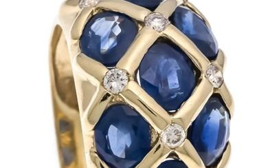 Sapphire-brilliant ring GG 585/000 Harry Ivens, with 7...
