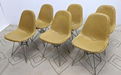 Set 6 Eames Eiffel Tower Side Dining Chairs. Herman Mil