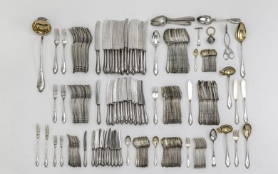 Silverware. Consisting of 216 pieces: 21 starter knives,...