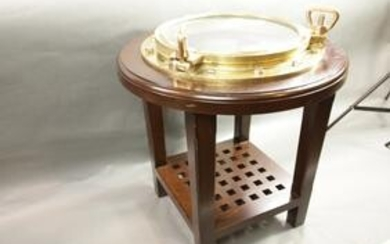 Solid Brass Porthole Table