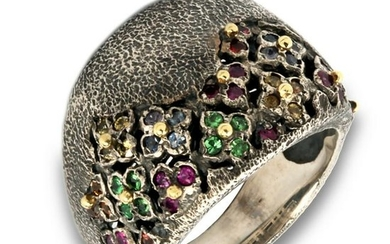 Stambolian Aged Silver and 18K Gold Multi-Color