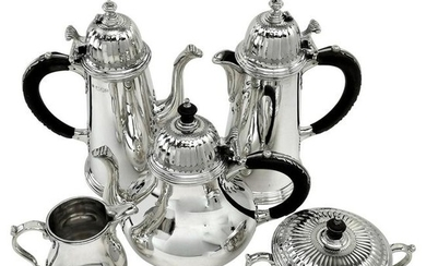 Sterling Silver 5-Piece Tea & Coffee Set 'Lukin Tea