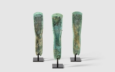 THREE BRONZE AGE AXES EUROPE, MIDDLE BRONZE AGE, C.