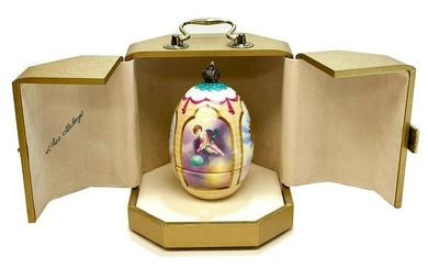 Theo Faberge Porcelain Sterling Silver Phoenix Egg #115