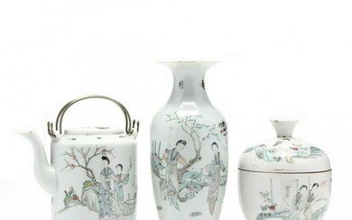 Three Chinese Republic Period Pieces of Porcelain