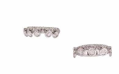 Two 18kt White Gold and Diamond Rings, Assil
