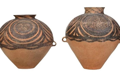Two Large Early Chinese Earthenware Vessels