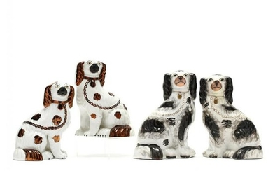 Two Pair of Staffordshire Spaniels