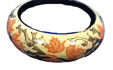 VINTAGE HAND PAINTED WOOD BANGLE